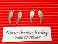 JEWELLERY WHOLESALE CHARM PENDANTS X50 BIRD FEATHER ANIMAL  SILVERTONE (C252)
