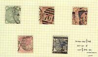 GB QV 1880/1 surface printed wmk IC sg165/9 cv£300+ (5v) Used Stamps