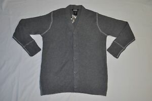 Men's UNDEFEATED Dark Heather Grey Cardigan size L NWT $102