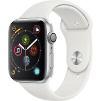Apple Watch Series 4 44mm (GPS) Silver Aluminium Case White Band MU6A2LL/A