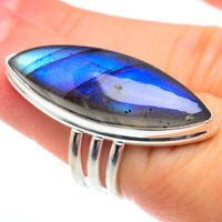 Large Labradorite 925 Sterling Silver Ring Size 6.25 Ana Co Jewelry R61475F