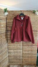 Columbia Fleece Jacket Full Zip Dark Red XXL