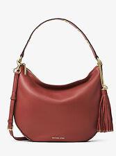 Michael Kors Brooklyn Large Convertible Leather Hobo (Brick Red)