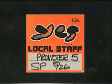 Yes 1994 - Talk Tour - satin crew pass - local staff