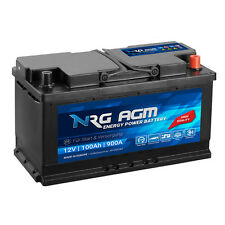 NRG AGM Autobatterie 12V 100Ah 900A/EN Start Stop Plus VRLA Batterie 92Ah 95Ah