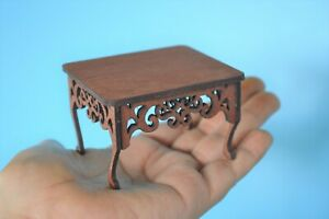Dollhouse Miniature Handcrafted Coffee Table 1:12 scale Wood Living Room Table
