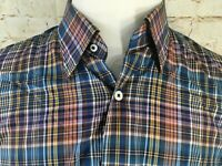 Peter Millar Mens Size L Long Sleeve Plaids Checks Button Down CASUAL Shirt