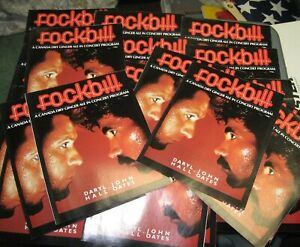 20 HALL AND OATES 1983 ROCKBILL POSTER PROGRAM TOUR BOOK-CANADA DRY GINGER ALE