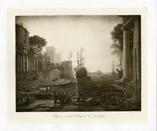"""""""LORRAIN : Ulysse remet Chryseïs"""" Phototypie originale BRAUN CLEMENT & Cie 1890"""
