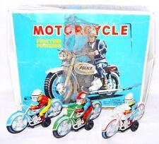 3x Modern Toys Japan POLICE & RACING MOTORCYCLE 10cm Tin Friction Toy MIB `68!