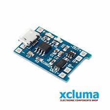 XCLUMA MICROUSB 5V 18650 LITHIUM BATTERY 1A CHARGING TP4056 PROTECTION BE0001