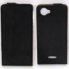 Cover case Exclusive Sony Xperia L C2105 nero custodia verticale + pellicola pro