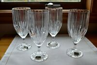 Set of 4 Mikasa PARK LANE Crystal Ice Tea Glasses 7 1/4""