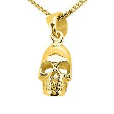 Skull Charm Pendant 14k Solid Yellow Gold Pendant - Skull Pendant