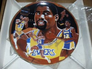 MAGIC JOHNSON Gartlan USA Plate SIGNED AUTOGRAPH ARTISTS PROOF LAKERS AUTO