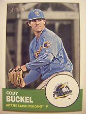 CODY BUCKEL RC 2012 Topps Heritage Minors baseball card RANGERS #104 QTY ROOKIE
