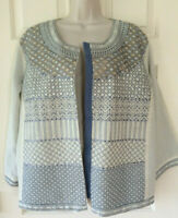 MULTIPLES 3/4 Sleeve Embroidered Beaded Lined Jacket Blazer Top ~ Size 2X  (NWT)