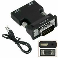 """HDMI Female to VGA Male Adapter Converter with Audio Cable Support 1080P Output"