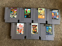 Lot Of 7 NES Nintendo Entertainment System Games - Tested (Commando, Golf...)