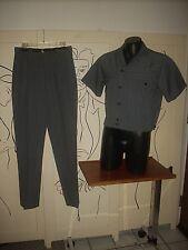 Men'S Designer Custom Tailored Gray Leisure Walking Suit Fabric Made In England