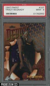 1997 Topps Finest #107 Tracy McGrady Raptors RC Rookie HOF PSA 9 MINT