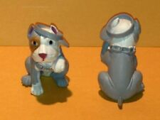 "Hood Hound Puppies - ""Gray Pit Bull Dog"" Pitbull Figure 1 3/4"" Tall w/ gray hat"