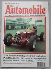 The Automobile 07/1993 featuring Maserati, Marmon, Armstrong Siddeley, Bugatti