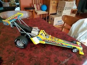 """Yellow Wowwee Remote Control R/C Dragster 22"""" Ken Albana Drag Racing Car Only"""