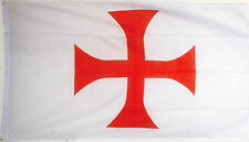 KNIGHTS TEMPLAR RED CROSS FLAG 5X3 Christian Crusades Crusader ENGLAND flags
