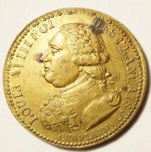 Ier EMPIRE/RESTAURATION : JETON POUR LE RETOUR DE LOUIS XVIII AVRIL 1814
