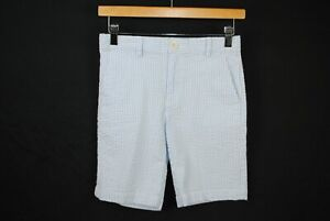 Vineyard Vines Boys Blue And White Seersucker Shorts Size 12 Youth