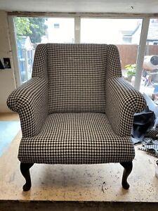 Quality Handmade / Fireside  Chairs Laura Ashley Styl Houndstooth Noir