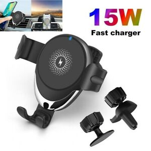 15W Fast Qi Wireless Car Charger Gravity Car Holder Mount For iPhone XS XR 11 8