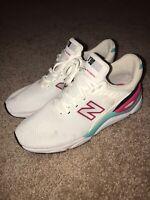 New Balance X-90 Revlite White Aqua Pink Mens Size 10 Shoe Sneakers MSX90CRA