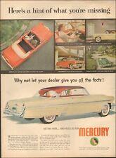 1950 Vintage ad for Mercury`retro car Photo interior view Multiple styles 070219