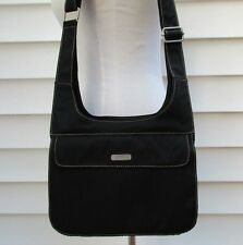 BAGGALLINI Black Nylon Messenger Crossbody Shoulder Bag Travel Organizer Handbag