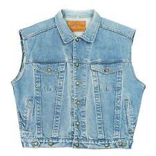 Vintage JEP'S Sleeveless Denim Jacket   Men's M   Cowboy Western Jean Vest Retro