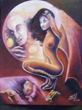 Vampire Girl Woman Nosferatu Horror Art Painting Print Science Fiction Vampires