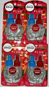 4 Febreze PLUG Limited Edition FRESH SPICED APPLE Scented Oil Refills 27 ML