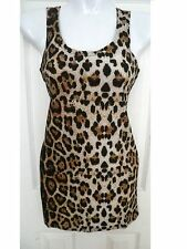 sexy women leopard print cami tank top tunic sleeveless shirt blouse top S/M HOT