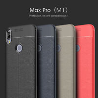 For ASUS Zenfone Max Pro(M1) 3 4 5 Shockproof Rubber TPU Leather Slim Case Cover