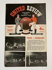 More details for manchester united v charlton 1956 / 1957 football programme bobby charlton debut