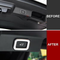 For Jaguar F-PACE 2016-2018 Rear Trunk Tailgate Switch Button Knob Cover Trim