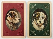 Pair of Vintage Swap/Playing Cards - LUCY DAWSON DOGS