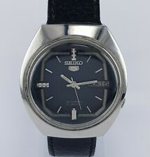 SEIKO 5 Automatic 21 Jewels Dark Blue Shade Dial Day & Date Vintage Watch 7009A