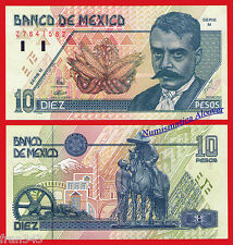 MEJICO MEXICO 10 Pesos 1994 Emiliano Zapata Pick 105a  SC  /  UNC