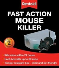 Rentokil Fast Action Mouse Killer Bait Box 2 Pack-  Each box kills up to 50 mice
