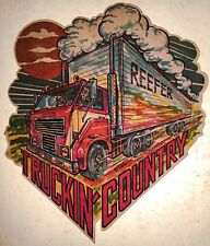 1970s Pot Reefer Weed Marijuana Trucker vTg Big Rig Semi Truck T-shirt iron-on