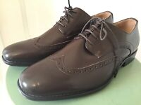 Men's NWOT Bruno Marc Brown Leather ( Style DP08 ) Dress Shoes Size 10