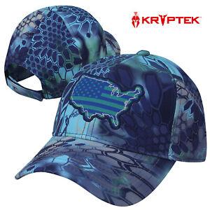 Kryptek Double Knit USA Patch 6-Panel Cap- Kryptek Pontus